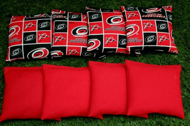 Sensational Cornhole Bean Bags Set Of 8 Aca Regulation Bags Nhl Carolina Hurricanes Gmtry Best Dining Table And Chair Ideas Images Gmtryco