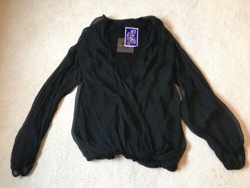 Silk Bnwt Layer Black Sudar Top qaOSwwxn5I
