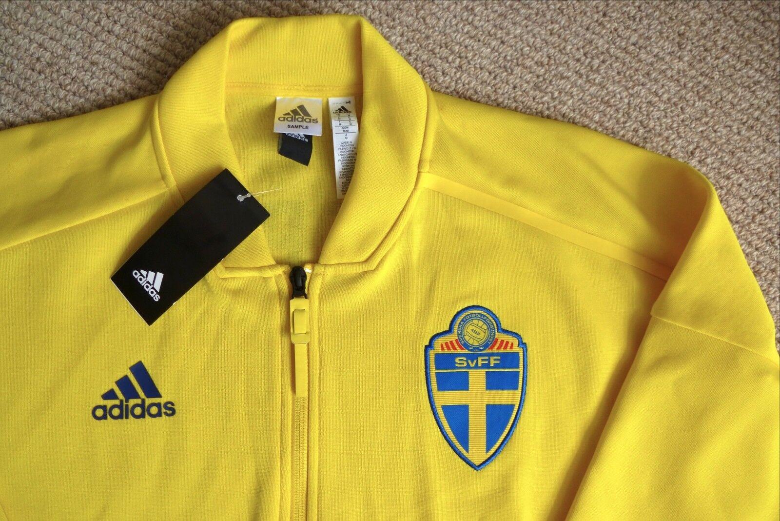 M 4143 ufficiali adidas traccia giacca Svezia CALCIO FOOTBALL TAG SVERIGE SVF