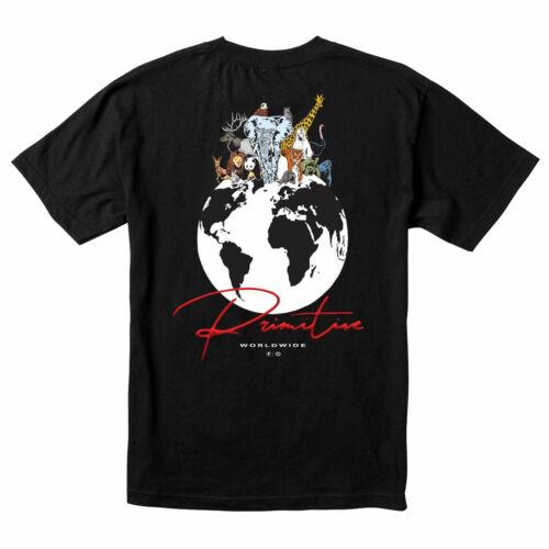 Primitive Men/'s Kingdom Short Sleeve T Shirt Black Clothing Apparel Skateboar...