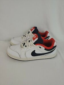 NIKE-HUSTLE-SHOES-White-Dark-Obsidian-Chilling-Red-369189-102-SZ-9-5