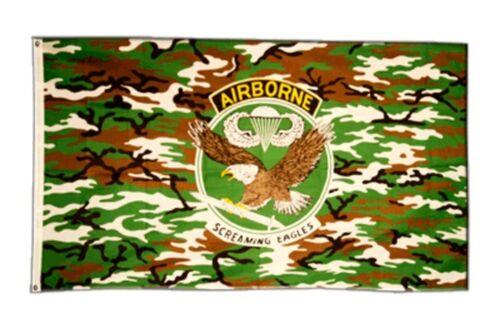 DRAPEAU USA AIRBORNE SCREAMING EAGLES Drapeau Hissflagge 90x150cm