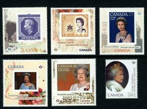 QUEEN = DIAMOND Jubilee = Set of 6 stamps from Mini Sheets Canada 2012 MNH