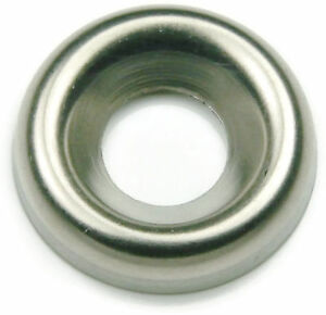 Qty 250 #12 Stainless Steel Cup Washer Finishing Countersunk