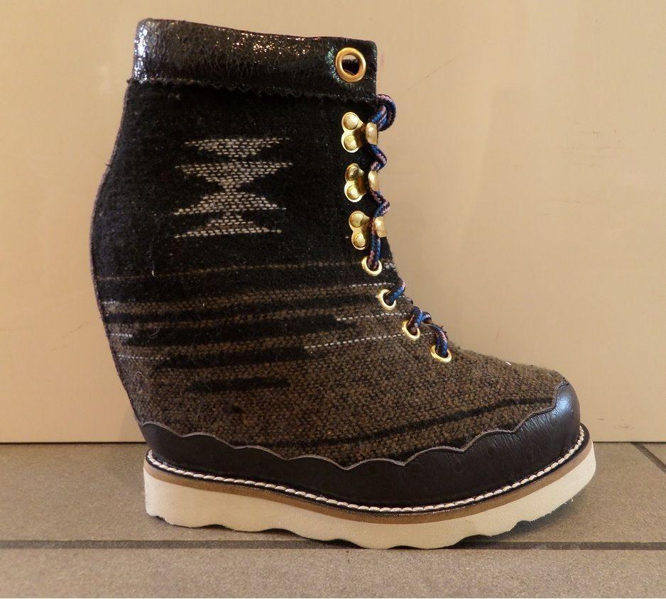 Irregular Choice Walk A Bout High Heel Heel Ankle Boots shoes EU 36   UK 3.5