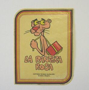 VECCHIO ADESIVO / Old Sticker LA PANTERA ROSA 1978 (cm 6 x 8)