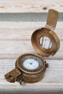 Solid-Brass-Nautical-British-Military-WW2-Mark-III-Prismatic-Pocket-Compass