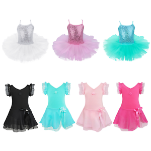 Girls-Ballet-Tutu-Dress-Leotard-Gymnastics-Kids-Ballerina-Dancewear-Costume