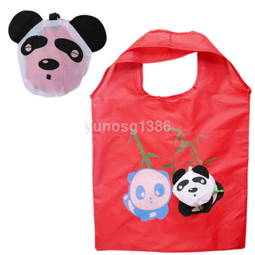 Women Animal Reusable Eco Storage Grocery Bags Shopping Tote Folding Purse Lot