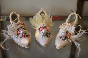 Katherine-S-Collection-Botanica-Zapato-Ornamento-Colgante-Shabby-Barroco-17cm