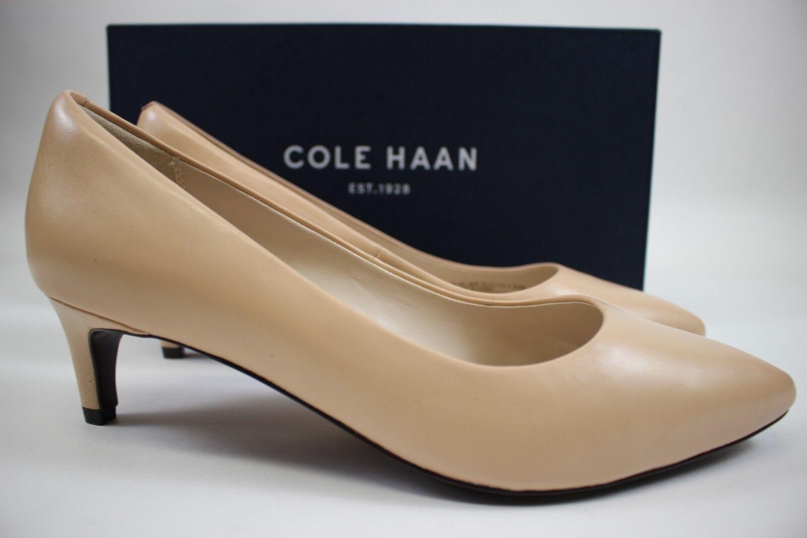 NIB COLE HAAN Size 9.5 Women's Nude 100% Leather AMELA GRAND 45MM Classic Pump