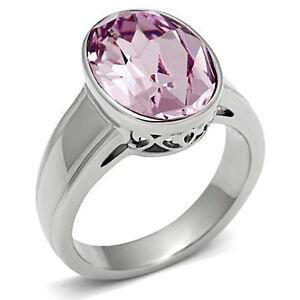 Oval-Shape-Light-Amethyst-Purple-Crystal-Silver-Stainless-Steel-Ladies-Ring