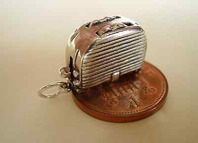 BEAUTIFUL ' POP UP TOASTER ' MOVING STERLING SILVER CHARM