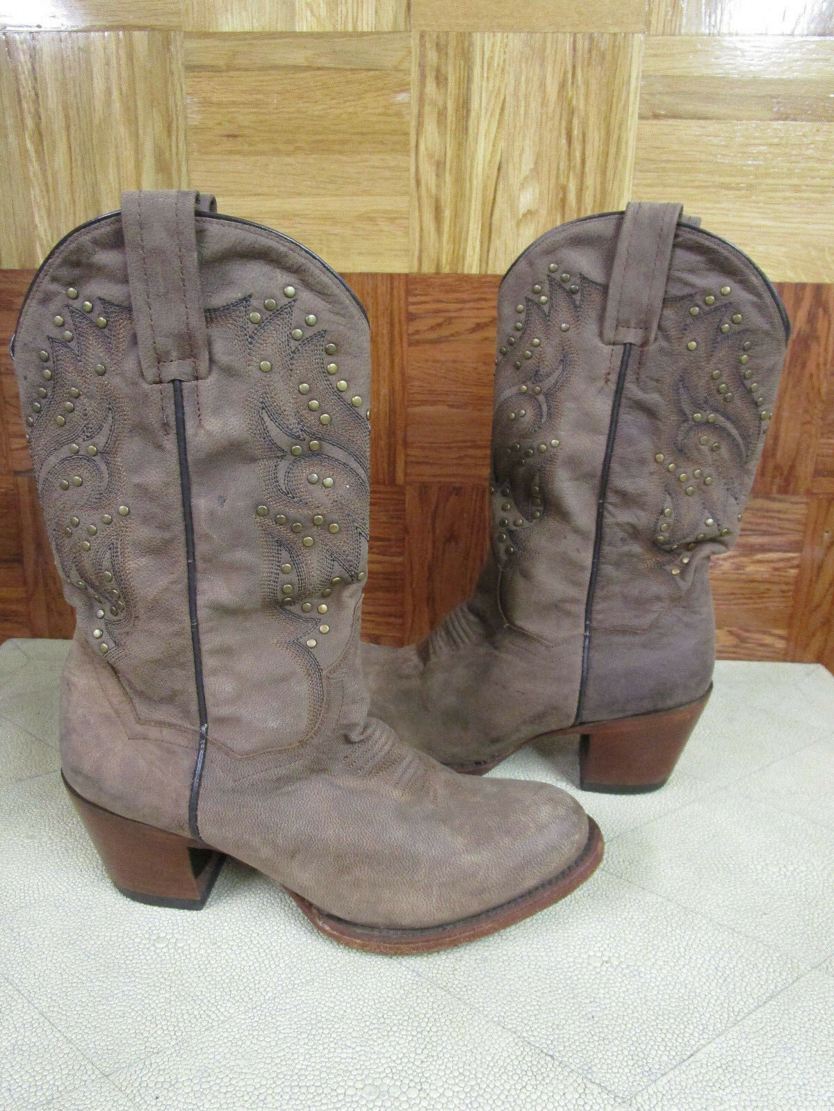 Dan Post Women's Melba Bay Apache Western Boots Round Toe Size 7.5 M