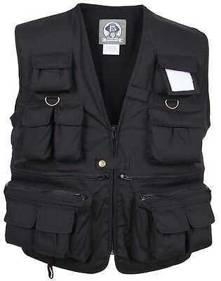 Black Tactical Uncle MiltysTravel Multi-Pocket Fishing & Photography Vest 7531