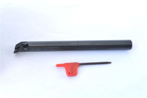 S16Q-SDQCR07 16x180mm HOLDER CNC lathe tool hole lathe 93° FOR DCMT//DCGT0702//04