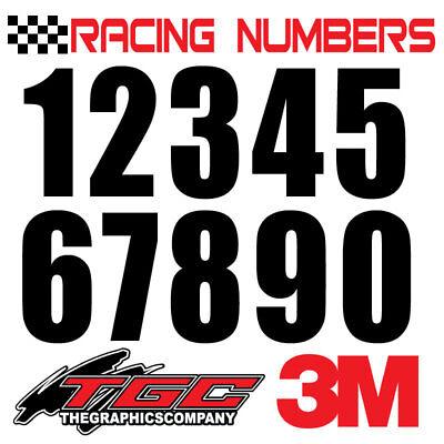 Racing Numbers Vinyl Decals Stickers boat car BMX bike off road  sprint quad mas
