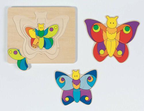 SCHICHTENPUZZLE Schmetterling Entwicklungspuzzle °NEU°