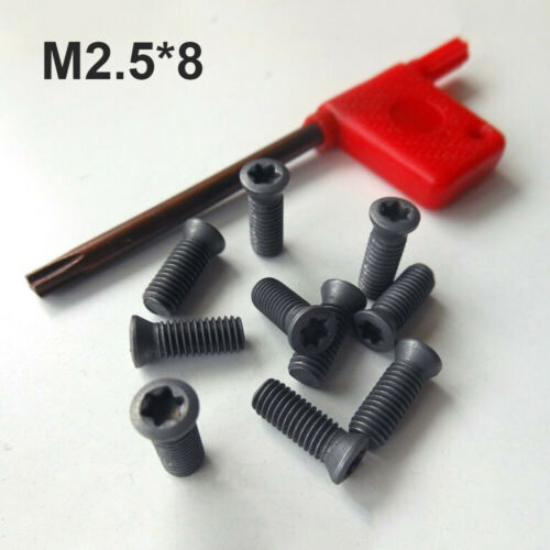 For Carbide Inserts Cutter Lathe Insert Torx Screws+Wrench Tool Kit M4*12 M4*16