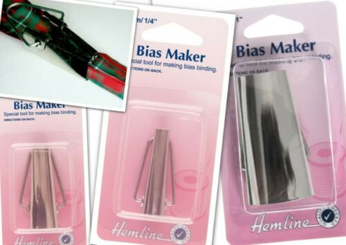 6 12 25mm or Set of 3 Hemline Bias Binding Maker Fabric Edging Bunting Tool