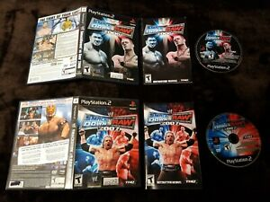 Playstation-2-game-lot-WWE-SmackDown-vs-Raw-06-and-07-both-complete-and-tested