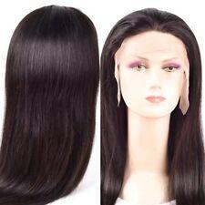 130% density peruvian virgin human hair full lace wig 22inches color #1b