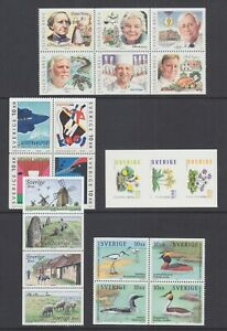 Sweden-Sc-2444-2453-2461-2462-2469-MNH-2002-03-Booklet-panes-5-different