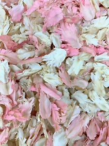 Ivoire-Rose-biodegradable-naturel-Mariage-Confettis-Reel-Seche-Feather-Petales-1-L