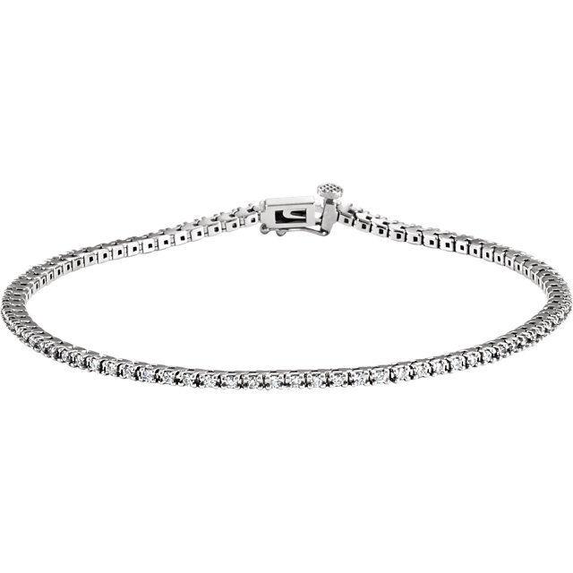 Diamond Tennis 7.25  Bracelet In 14K White gold (1.00 ct. tw.)
