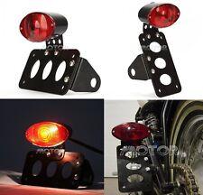 Black Tail Light License Plate Bracket for Harley Davidson Cafe Racer Custom USA