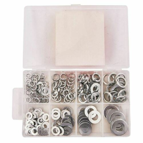 Amtech 200 Piece Steel Assorted Washers Rust Resistant Flat Bolts Screws Repair