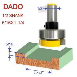 """1 pc 1/2"""" Shank 5/16x1-1/4 Dado Planer Pattern Top Bearing Router Bit S"""
