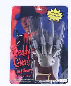 FREDDY krueger guanto Cosplay Costume Nightmare on Elm Street in plastica NUOVO