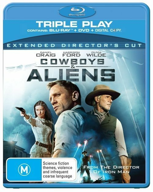 NEW Cowboys & and Aliens *No GST* (Blu-ray, 2011, 2 - Disc set) FREE POSTAGE