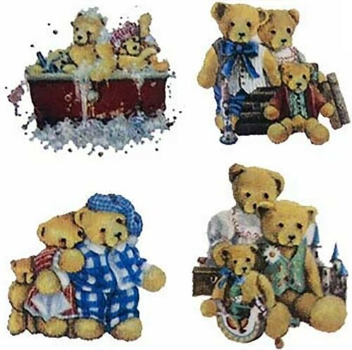 "Teddy Bear Fun 12 pcs 1/""  Waterslide Ceramic Decals Xx"