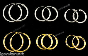 1-Pair-Silver-Gold-Hoop-Sleeper-Earrings-with-Hinges