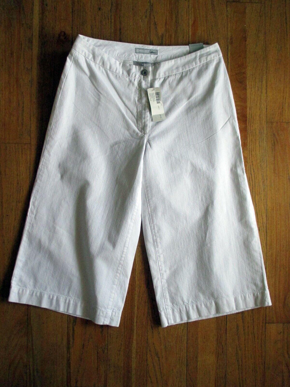 CHICO'S PLATINUM OPTIC WHITE GAUCHO PANTS NWT CAP… - image 1