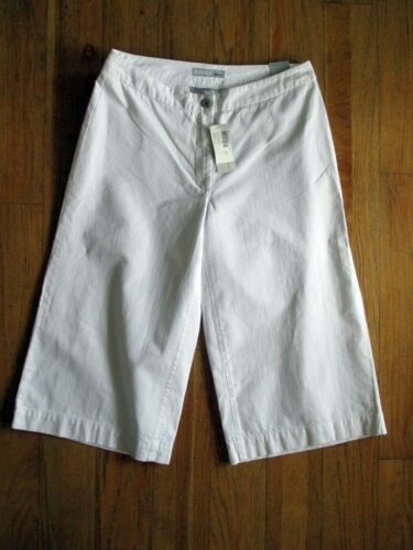 CHICO'S PLATINUM OPTIC WHITE GAUCHO PANTS NWT CAPR