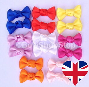 Pair of Satin Ribbon Dog Hair Bow Alligator Clips Various Colours - Hextable, United Kingdom - Returns accepted Most purchases from business sellers are protected by the Consumer Contract Regulations 2013 which give you the right to cancel the purchase within 14 days after the day you receive the item. Find out more about - Hextable, United Kingdom