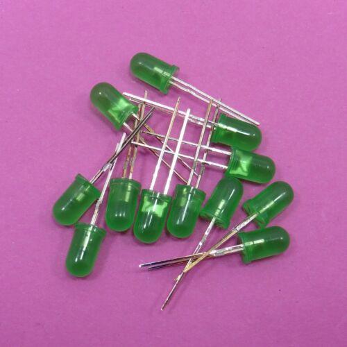 Diffus vert ultra lumineuse 5 mm DEL diode électroluminescente 1.9V-2.0V 20 mA
