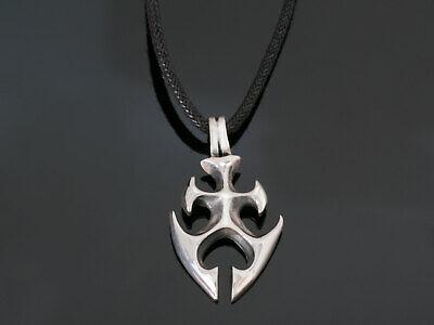 Silber Anhänger Schlagring Massiv 925 Sterling Amulett Brass