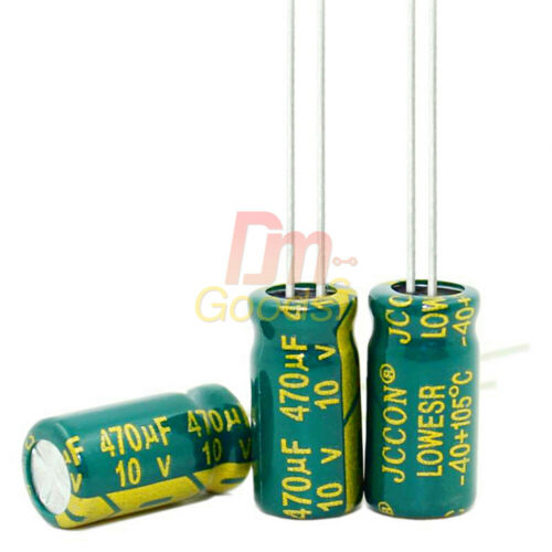 10//20//50//100PCS High Frequency 10V 470uF LOW ESR Radial Electrolytic Capacitor