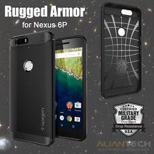 newest 4f7dd 47eec Nexus 6p Case Spigen Rugged Armor Resilient Black SGP11797