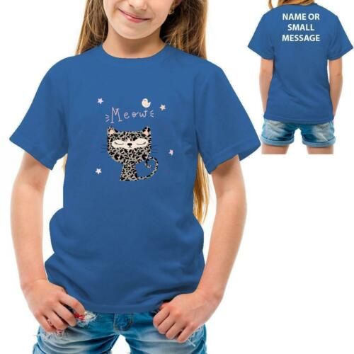 Cute Kitty Cat Girls Printed T-Shirt