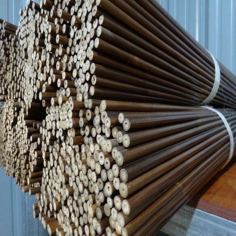 84 cm hágalo  usted mismo Eje de bambú flecha OD7.5mm 40 un. Eje hecha a mano de caza tiro con arco  artículos de promoción