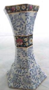 HATPIN-HOLDER-CROWN-POTTERY-LONGTON-5-25-034-TALL-C-1930-039-S-FLORAL-BAND-FLEUR