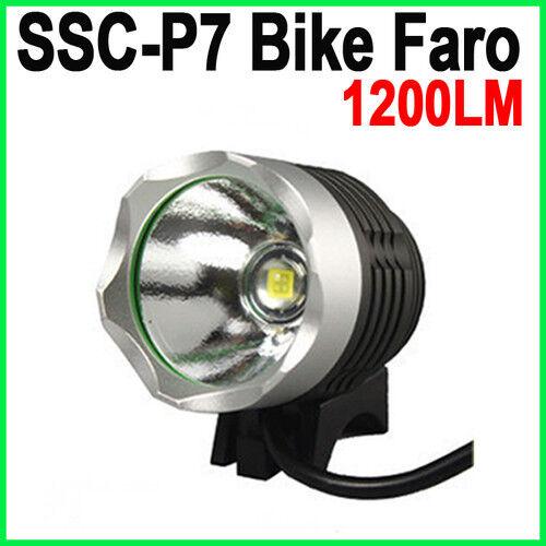 Litio 8.4 Volt 4400 SSC-P7 1200LM 3-AFFARE LED Bike torcia fanale 1200 lumen