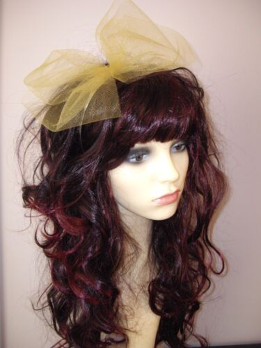 Hair Band Pop Star Bow Hen Party 80s Fancy Dress 6 colours 80s Alice Band