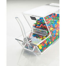 Ice Cream Toppings Bulk Bin Acrylic Withmagnetic Lid And External Spoon Holder