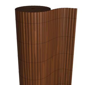 BRAUN Sichtschutzmatte Zaun Windschutz Balkon Markise PVC Blende Größen Farbe